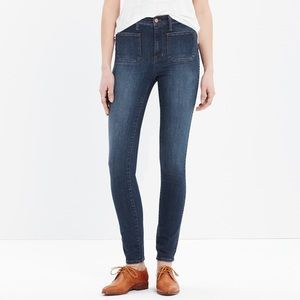 "Madewell 10"" high riser sailor jeans skinny 27"